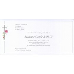 Carte de remerciement décès, deuil, funérailles, condoléances, obsèques BUROMAC 644.155