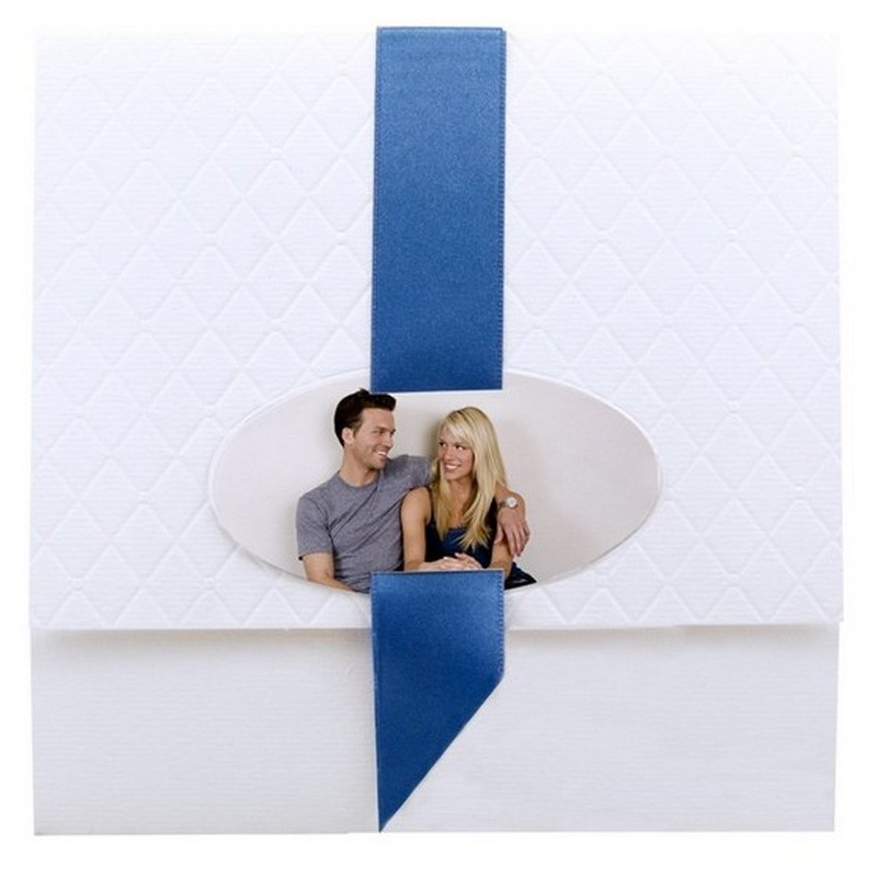 faire part mariage l gant matelass blanc ruban satin bleu regalb toi moi 2018 jl3033. Black Bedroom Furniture Sets. Home Design Ideas