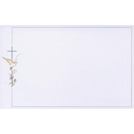 Carte de remerciement décés, deuil, funérailles, condoléances, obsèques DECORTE 6529