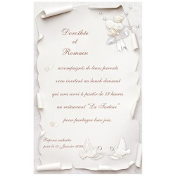 Carte lunch ou remerciements REGALB KB766