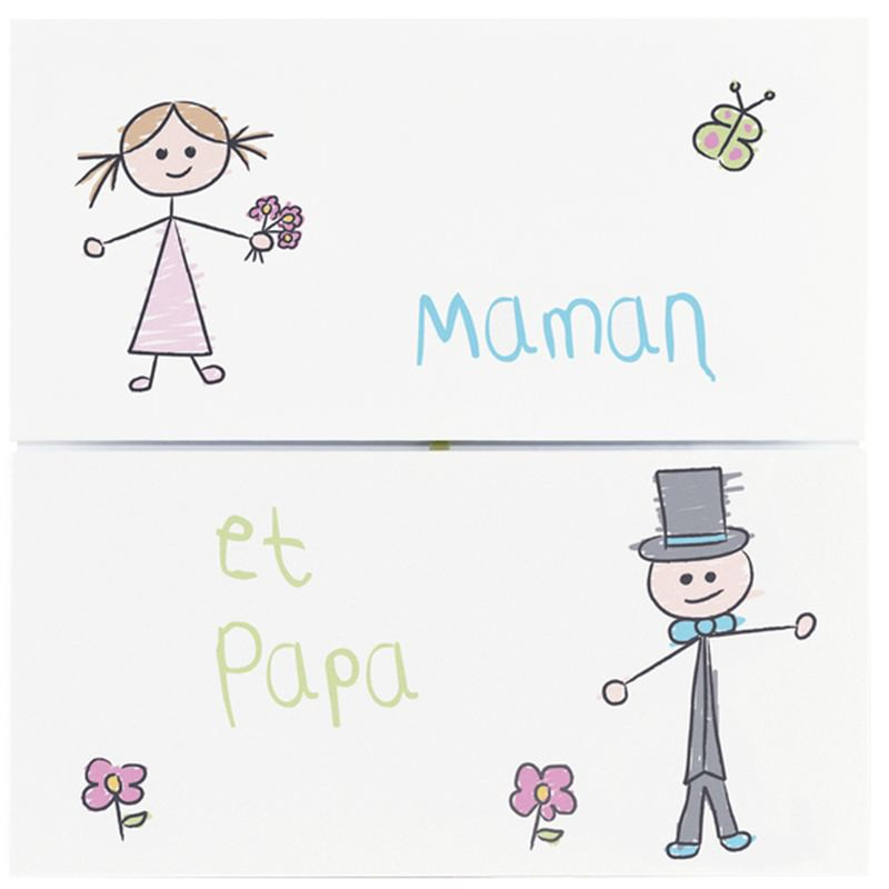 Extrêmement part mariage humoristique dessin enfant REGALB JC3251 ET96