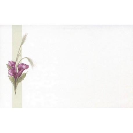 Carte de remerciement décés, deuil, funérailles, condoléances, obsèques DECORTE 6559