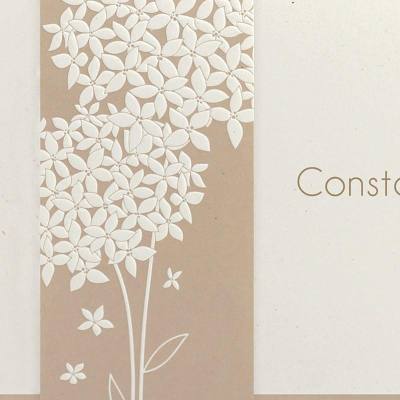 faire part mariage chic nature fleur beige regalb jg3287. Black Bedroom Furniture Sets. Home Design Ideas