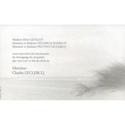 Carte de remerciement décés, deuil, funérailles, condoléances, obsèques DECORTE 6499