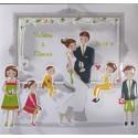 Faire-part mariage multicolore pochette famille Faire Part Select Duo 49504