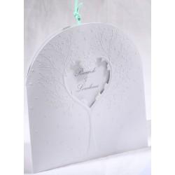 Faire-part mariage blanc arbre coeur vernis Faire Part Select Duo 49505