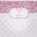 Faire-part mariage blanc pochette fleurs roses Faire Part Select Duo 49510