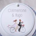 Faire-part mariage disque mariés vélo fleur Faire Part Select Duo 49528