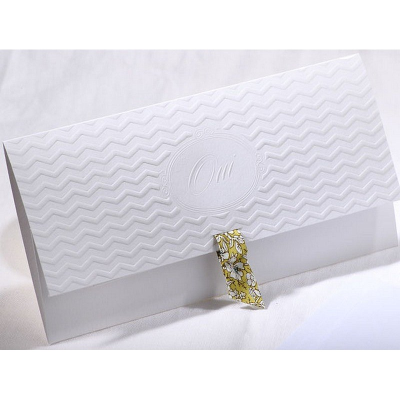 Bien-aimé part mariage classique pochette blanc oui vernis Faire Part Select  QW98