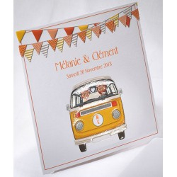 Faire-part mariage original vintage combi orange Faire Part Select Duo 49542