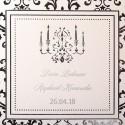Faire-part mariage classique crème bougie argent Faire Part Select Duo 49552