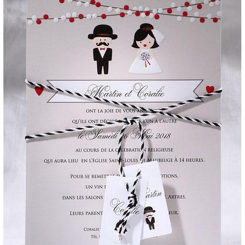 Préférence part mariage humoristique taupe mariés Faire Part Select Duo 49556 BL15