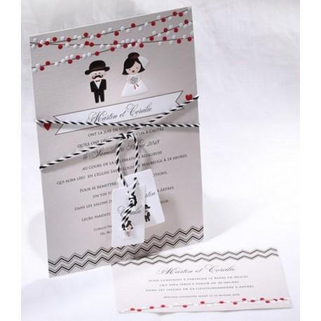 Faire-part mariage humoristique taupe mariés Faire Part Select Duo 49556