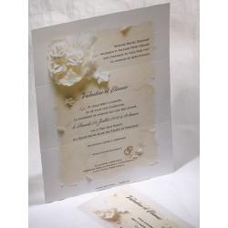 Faire-part mariage romantique fleur crème Faire Part Select Duo 49564