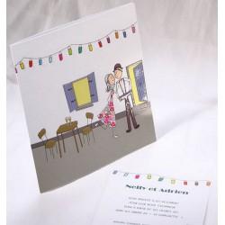 Faire-part mariage humoristique mariés vintage Faire Part Select Duo 49567