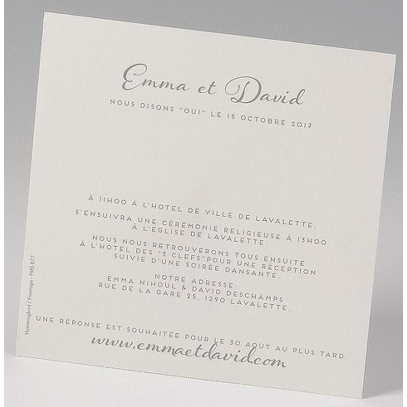 faire part mariage l gant pochette cr me iris encre de su de belarto love 726901. Black Bedroom Furniture Sets. Home Design Ideas