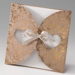 faire part mariage nature chic papier écologique dorure - Belarto Bella 725085-W