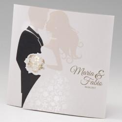 faire part mariage original couple vernis dorure - Belarto Bella 725093-W