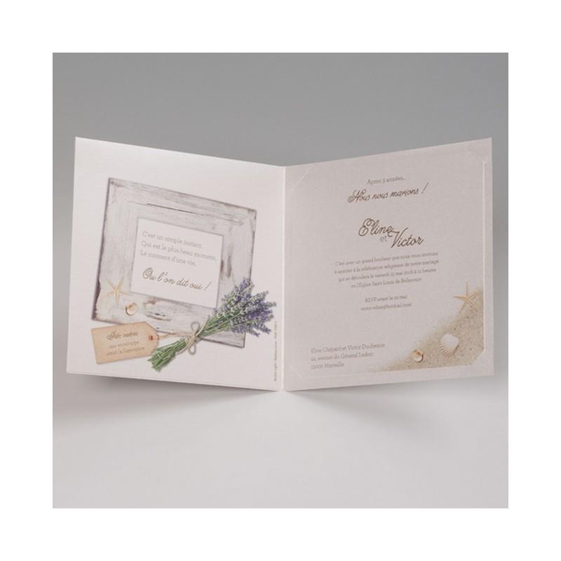 faire part mariage nature mer photo belarto bella 725005 w. Black Bedroom Furniture Sets. Home Design Ideas