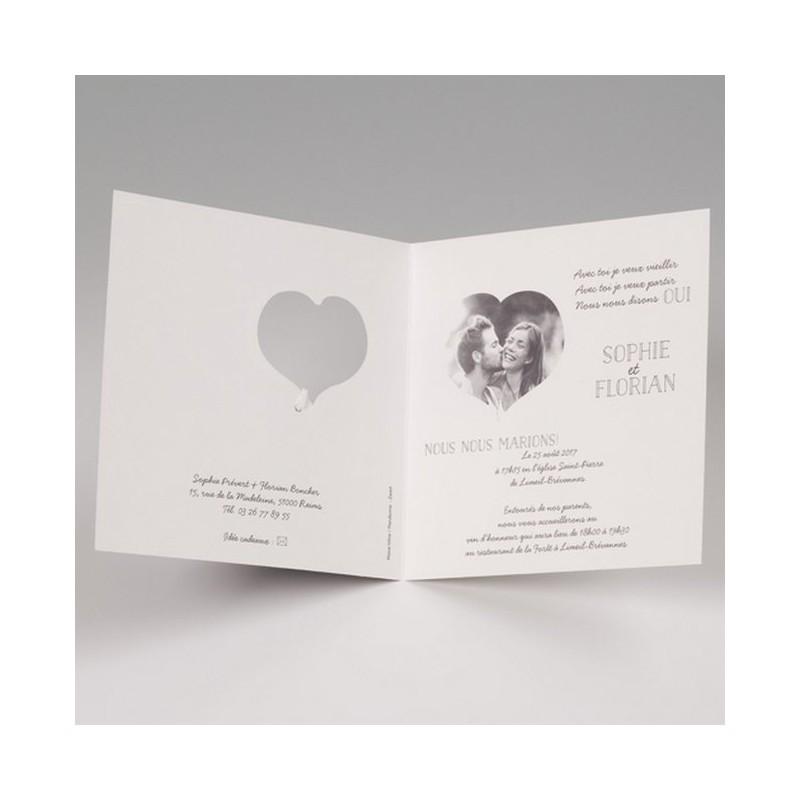 faire part mariage tableau noir craie coeur photo belarto bella 725113 w. Black Bedroom Furniture Sets. Home Design Ideas