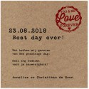Carte lunch ou remerciements marron kraft cachet rouge BELARTO Love 726521