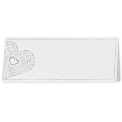 Marque Place chic blanc coeur gris-bleu - Belarto Love 726764
