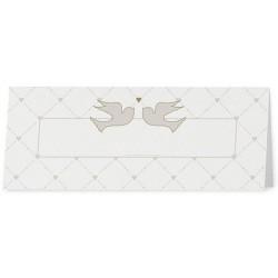 Marque Place vintage crème oiseau coeurs - Belarto Love 726729