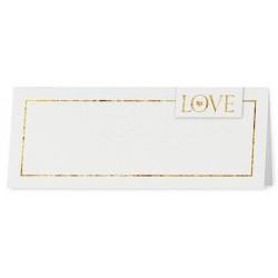 Marque Place irisé blanc liseré doré - Belarto Love 726710