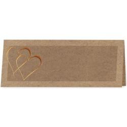 Marque Place marron coeurs vernis doré - Belarto Love 726761