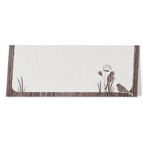 Marque Place crème liseré bois oiseaux - Belarto Love 726715