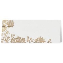 Marque Place crème fleurs motif bois - Belarto Love 726734