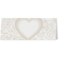 Marque Place crème coeur fleurs beiges - Belarto Love 726754