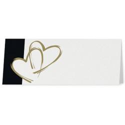 Marque Place crème coeurs dorés frise noire - Belarto Love 726762