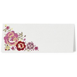 Marque Place blanc fleurs roses - Belarto Love 726739