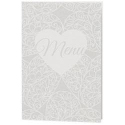 Menu mariage crème cour arabesque irisé - Belarto Love 726668