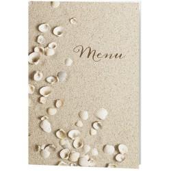 Menu mariage sable coquillage irisé - Belarto Love 726612