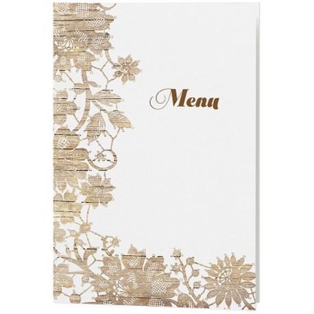 menu mariage cr me nature chic fleur bois belarto love 726634. Black Bedroom Furniture Sets. Home Design Ideas