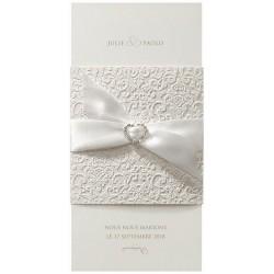 Faire-part mariage élégant crème arabesque encre de Suède Belarto Love 726066