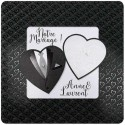 Faire-part mariage chic costume bustier coeurs Belarto Love 726004-W