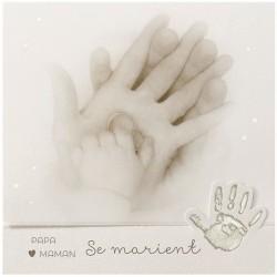 Faire-part mariage classique crème mains enfant Belarto Love 726041-W