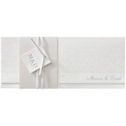 Faire-part mariage classique chic pochette crème arabesque vernis Belarto Love 726043
