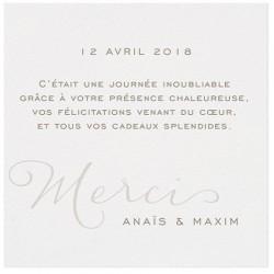 Carte lunch ou remerciements crème classique - BELARTO Romantic 726542