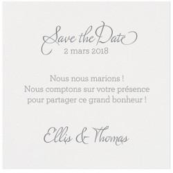 Carte lunch ou remerciements classique papier irisé BELARTO Romantic 726577