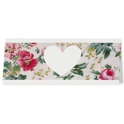 Marque Place crème fleurs roses vintage coeur - Belarto Romantic 726740