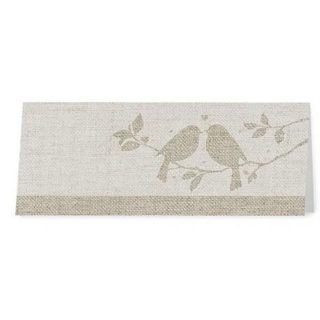 Marque Place crème taupe nature oiseaux - Belarto Romantic 726716