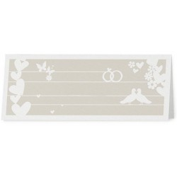 Marque Place chic taupe coeurs fleurs - Belarto Romantic 726767