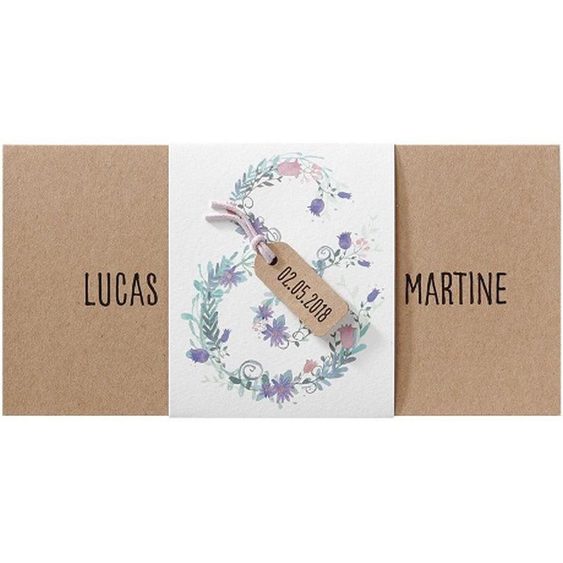faire part mariage nature pochette fleurs aquarelle belarto romantic 726037. Black Bedroom Furniture Sets. Home Design Ideas