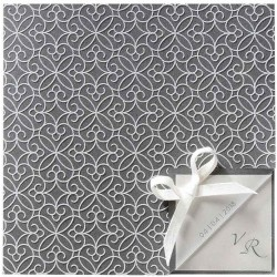 Faire part mariage chic gris coeurs stylisés encre de Suède BELARTO Romantic 726063