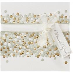 Faire part mariage original crème dorure ruban BELARTO Romantic 726048-W