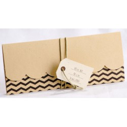 Faire-part naissance vintage camel chevrons marron - Faire Part Select En Route 89442